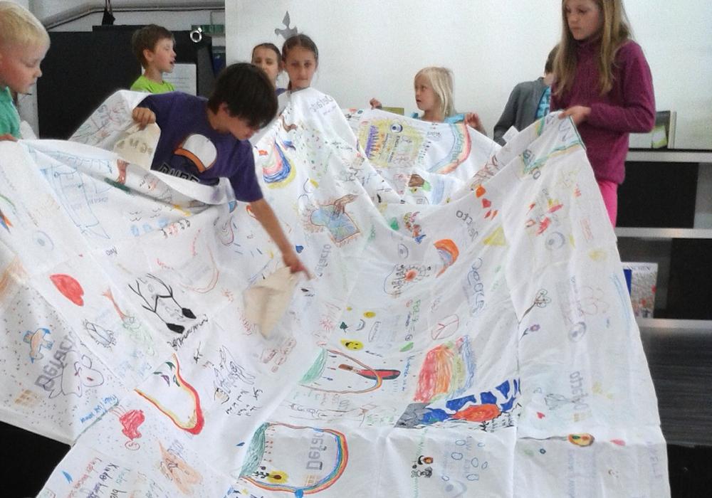 """Mehr als 4000 Kinder haben bisher die 15. Mitmachausstellung """"Angekommen- Dein Platz in dieser Welt"""" im AHA-ERLEBNISmuseum auf der Lindener Straße 15 besucht, Foto: privat"""