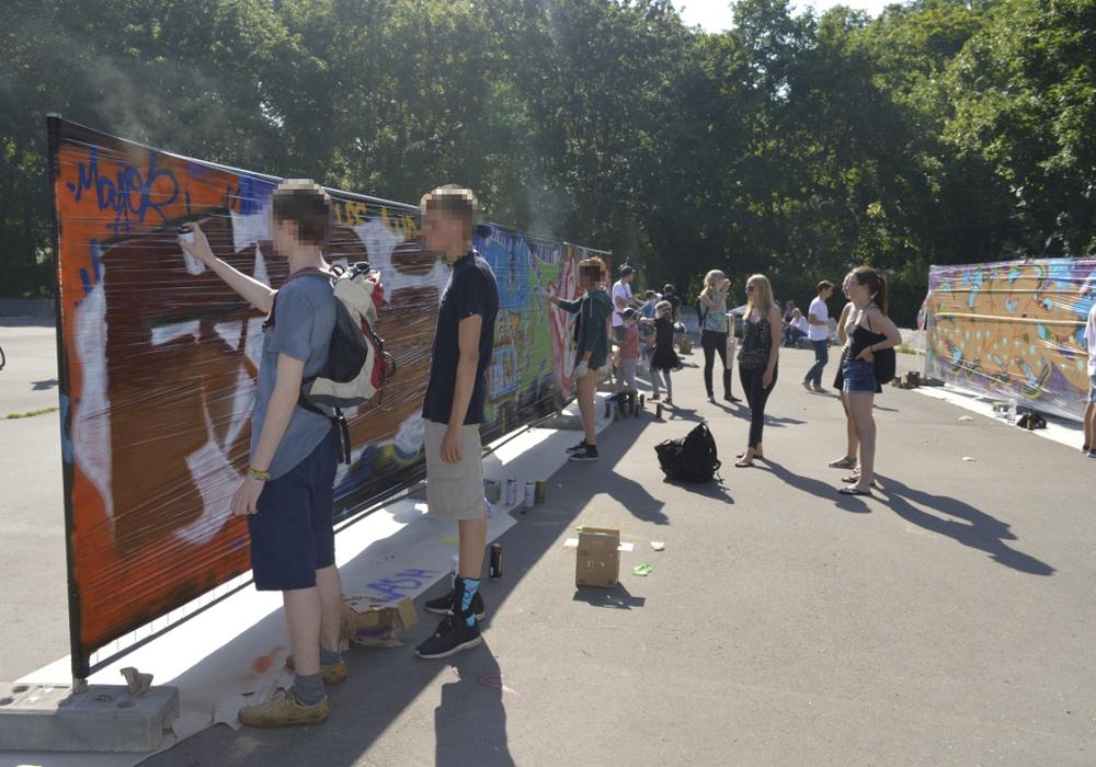 Schon im vergangenen Jahr konnten Jugendliche die Streetart-Kunst erlernen. Foto: Jugendring Braunschweig e.V.