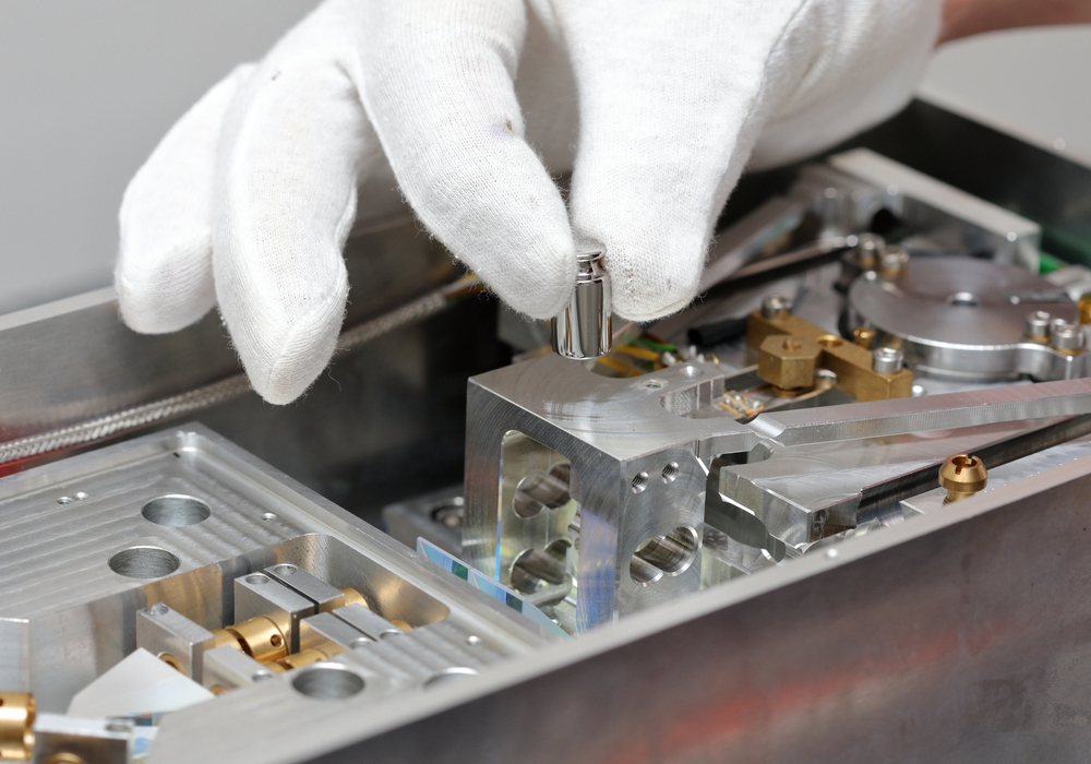Prototyp der Planck-Waage. Foto: TU Ilmenau
