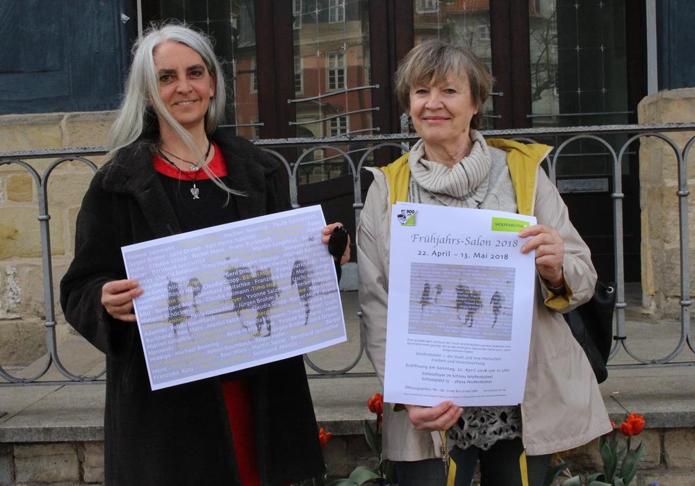 Die Organisatorinnen Yvonne Salzmann und Heike Hidalgo freuen sich auf den achten Frühjahrs-Salon. Foto: Eva Sorembik
