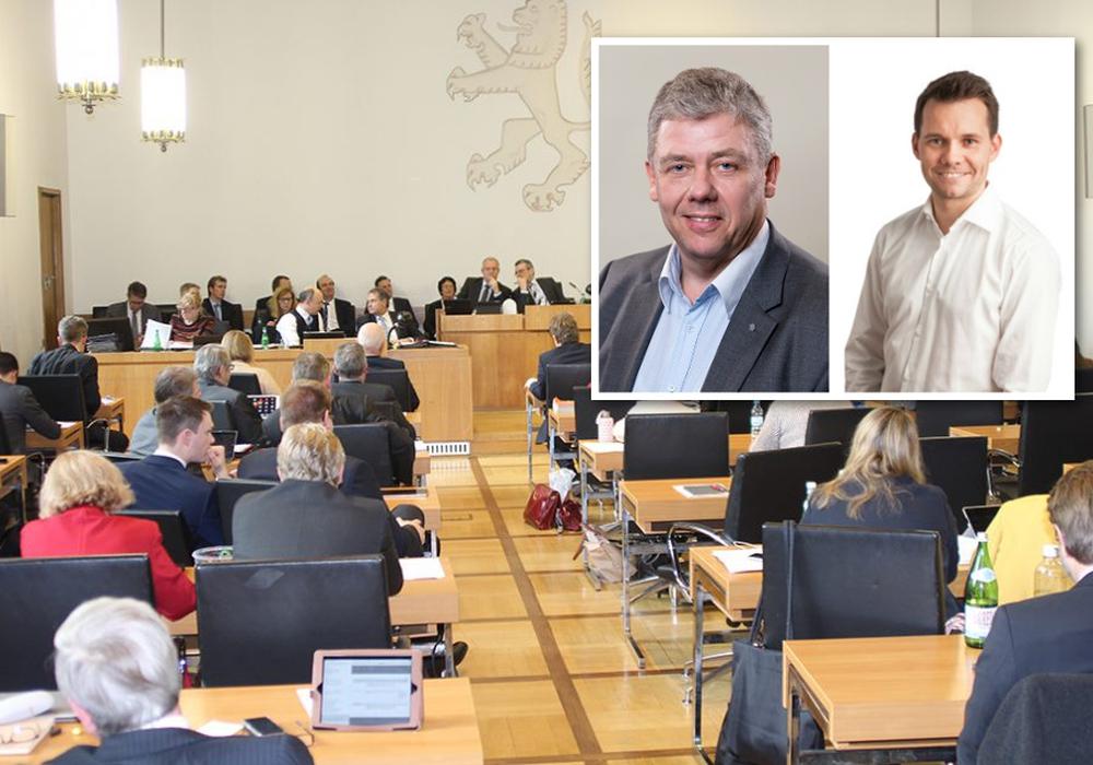 Die finanzpolitischen Sprecher der FDP und CDU, Mathias Möller und Kai-Uwe Bratschke, äußern sich stellvertretend für ihre Parteien. Foto: Archiv / CDU / FDP