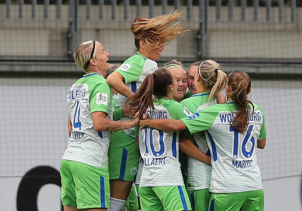 Gegen Madrid setzten sich die VfL-Frauen ganz klar durch. Foto: Agentur Hübner/Archiv