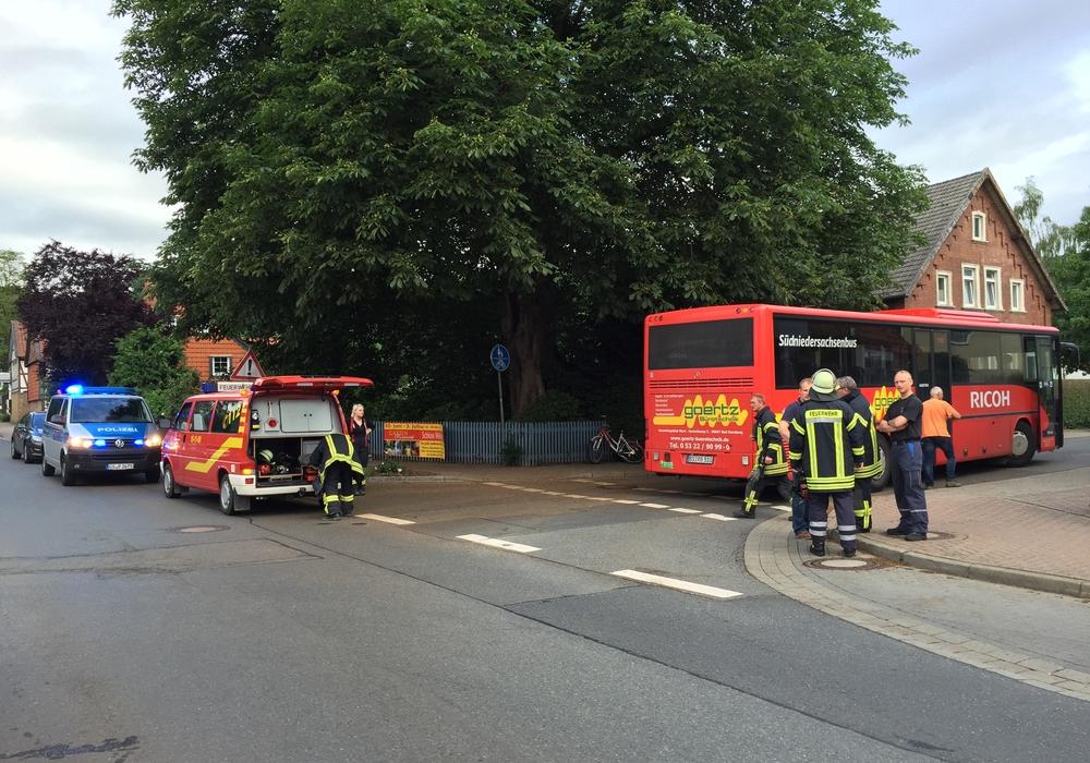 Am Mittwochmorgen wurde in Liebenburg ein Mädchen von einem Schulbus erfasst. Fotos: Anke Donner