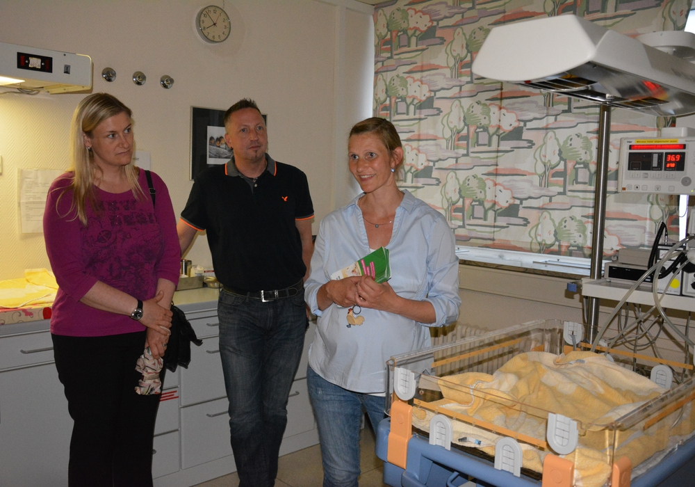 Sonja Jäger zeigte die Räume der Geburtshilfestation. Foto: Privat