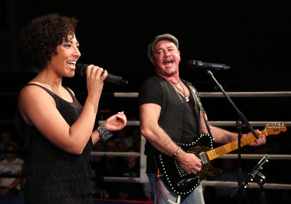 Nahmen einen Song für Eddy Gutknecht auf: Jessica Wahls und Volker Schlag. Foto: PR