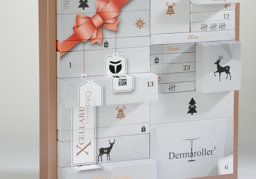 Der Dermaroller Adventskalender 2019 verspricht Freude und Luxus-Pflege an jedem Adventstag. Foto: Dermaroller GmbH