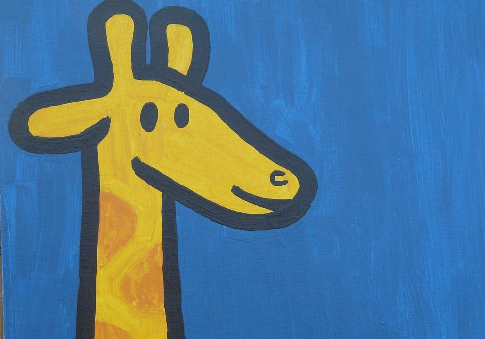 Auch dieses Bild einer Giraffe ist in der Kunst- und Kreativschule entstanden. Foto: Stadt Salzgitter