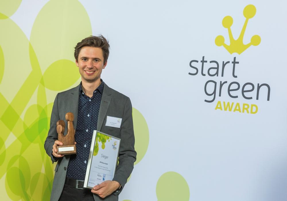Jan-Philipp Mai gewann den mit 5.000 Euro dotierten StarGreen-Award. Foto: Privat