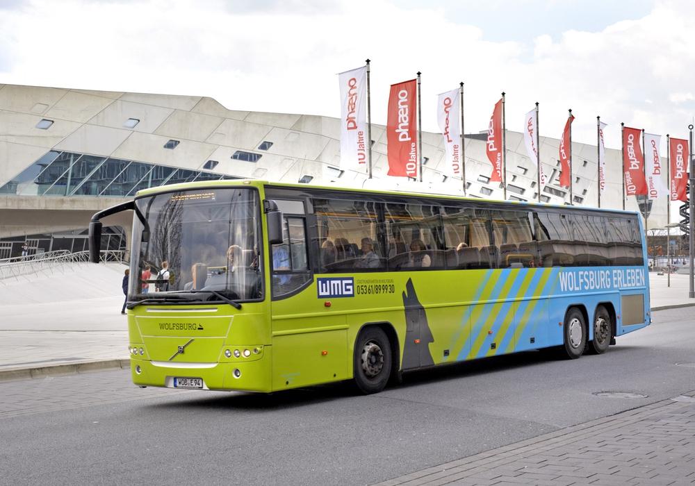 Stadtrundfahrt im Wolfsburg-Bus. Foto: WMG Wolfsburg