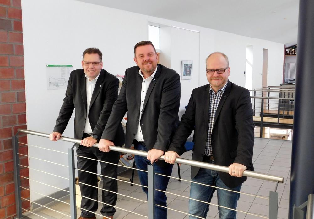 Sven Müller, Andreas Busch und Tobias Breske. Foto: Gemeinde Lehre
