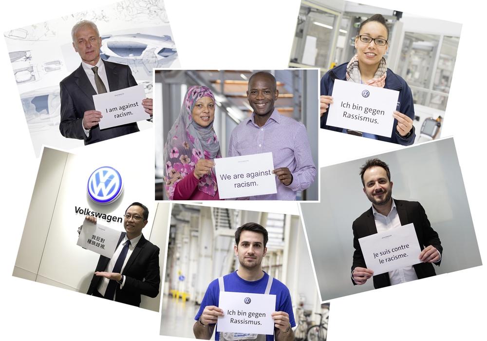 VW und der VfL Wolfsburg positionieren sich gegen Rassismus. Foto: Volkswagen