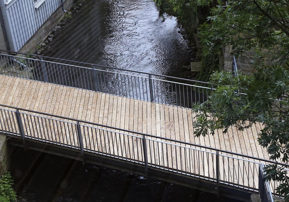 Die Brücke an der Rathauspassage wurde erneuert. Foto: Raedlein