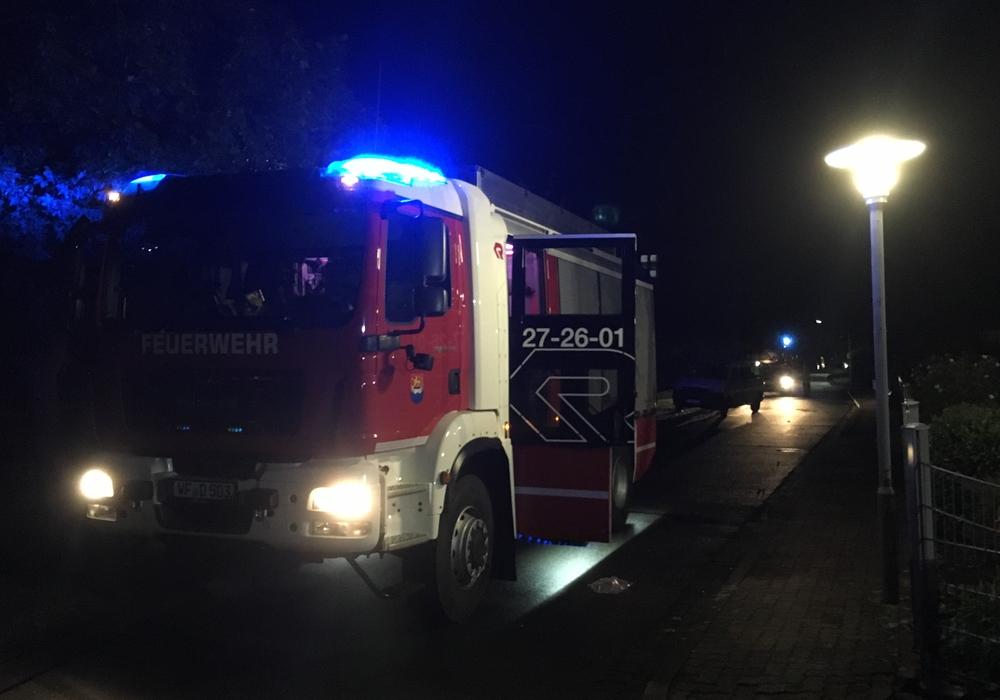 Die Feuerwehr Schöppenstedt war mit einem Löschzug vor Ort. Foto: Feuerwehr Schöppenstedt
