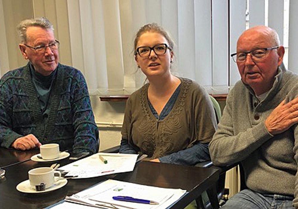 Besuch beim Seniorenbeirat der Stadt Helmstedt Heinz Hilgers, Amrit Bruns und Rolf Grimme. Foto: Kreisverkehrswacht Helmstedt