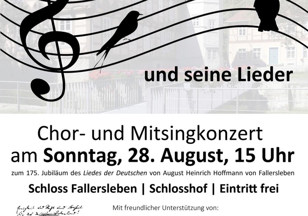 Das Veranstaltungsplakat zum Chor- und Mitsingkonzert. Bild: Stadt Wolfsburg