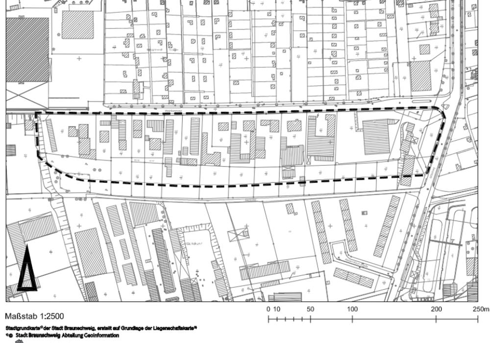 Die Stadtgrundkarte der Stadt Braunschweig. Skizze: Stadt Braunschweig