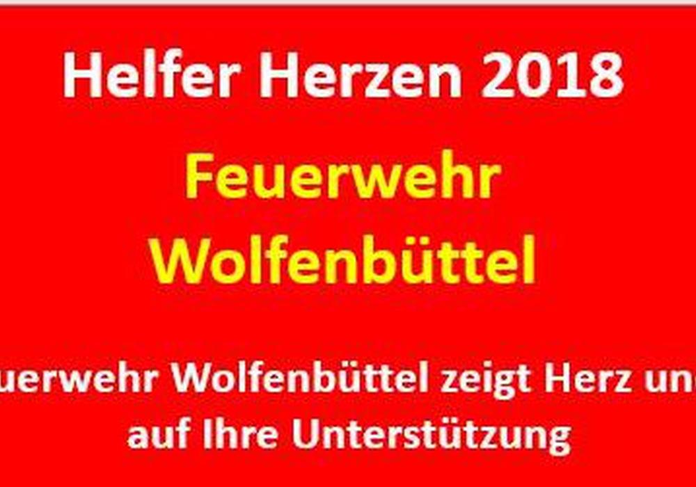 Die Feuerwehr zeigt Herz. Quelle: Ortsfeuerwehr Wolfenbüttel