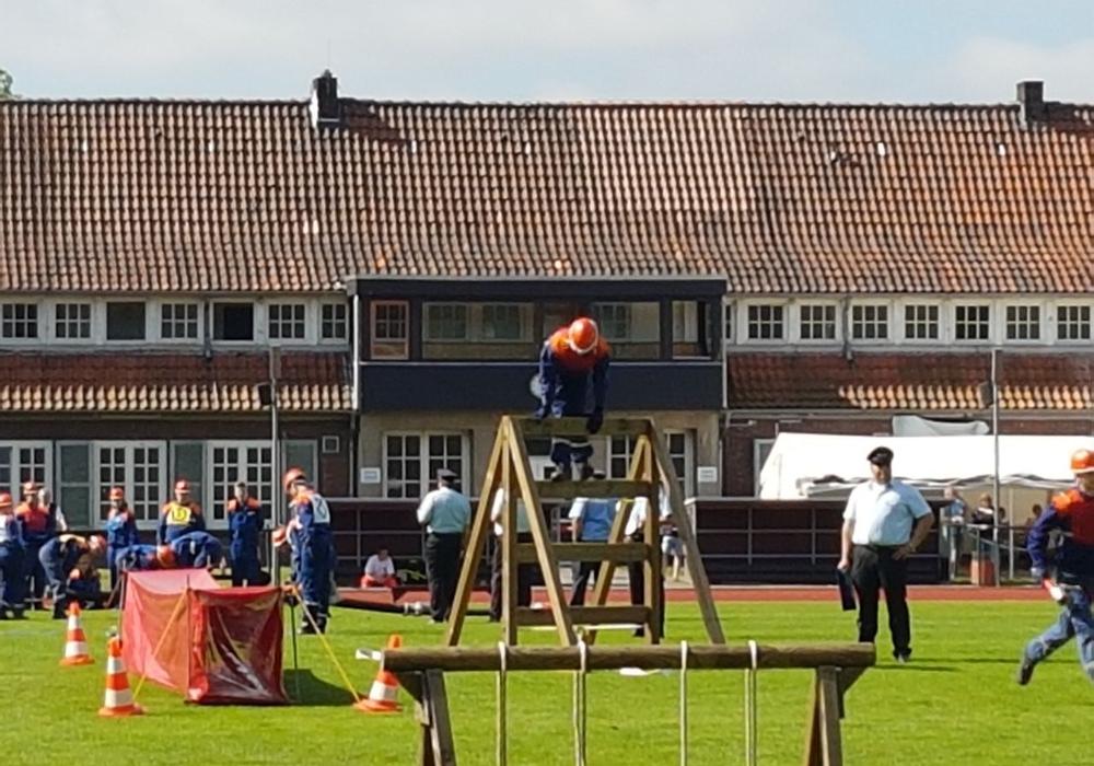Jugendfeuerwehren aus dem Landkreis Wolfenbüttel nahmen an den Landesmeisterschaft der Jugendfeuerwehren in Delmenhorst teil. Foto: Andrea Thomas