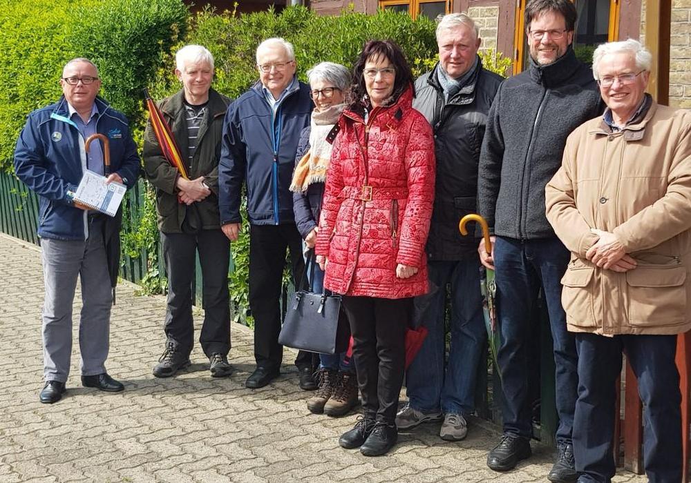 Uwe Prediger (2. v. li.) und Horst Prediger (re.) waren für die Begehung verantwortlich. Foto: CDU