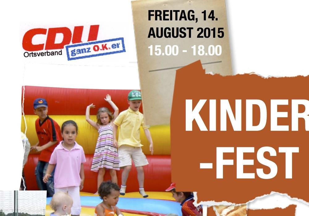 Der CDU Ortsverband Oker lädt am 14. August zum Kinderfest ein. Foto: CDU