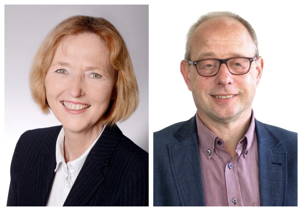 Pastorin Ulrike Brand-Seiß (56) und Oberkirchenrat Dr. Marc Wischnowsky (54) sind die beiden Kandidaten für den Vorsitz der Personalabteilung. Fotos: Ev.-luth. Landeskirche in Braunschweig