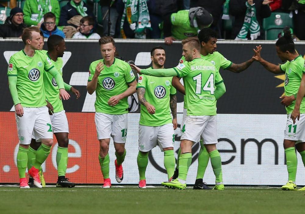 Befreiungsschlag am 29. Spieltag für den VfL Wolfsburg. Fotos: Agentur Hübner