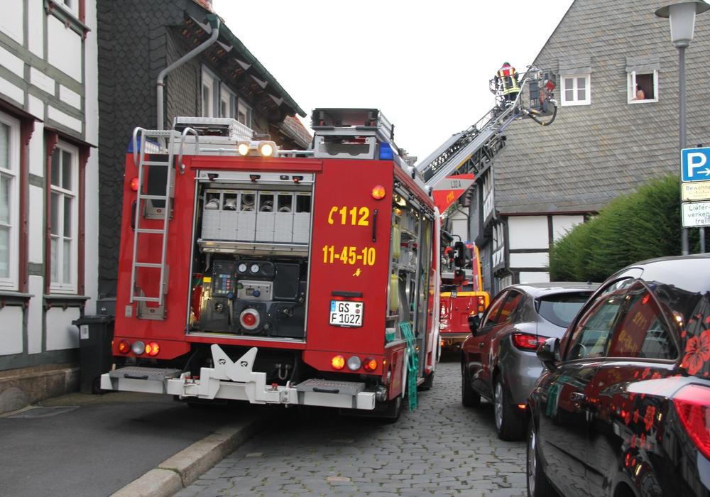 Feuerwehrübung in Alstadtenge der Schilderstraße . Foto: Feuerwehr Goslar