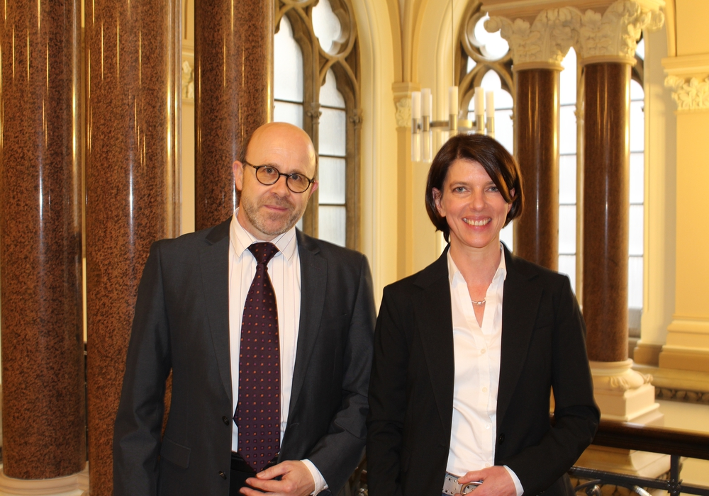 Markus Holfeld und Stefanie Behler-Ernst blicken der neuen Herausforderung entgegen. Foto: Wenkel