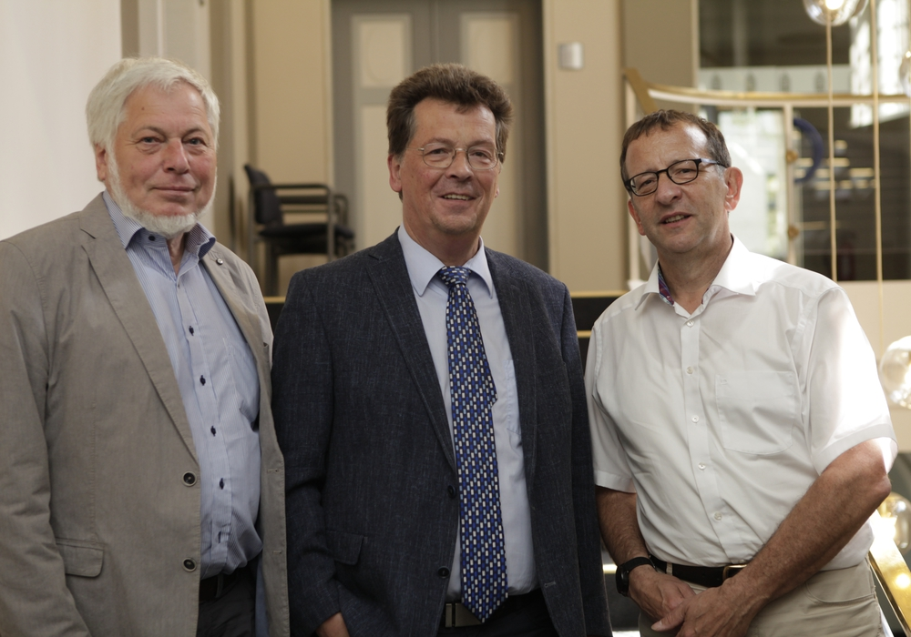 Reinhard Voges, Peter Peckedraht IHK BS, Prof. Dr. Dr. Antonietti (v. li.). Foto: Tim Jauernig, IHK Braunschweig
