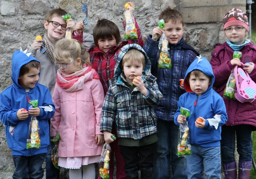 Die Ostereiersuche nach dem Familiengottesdienst im letzten Jahr. Foto: Gesamtpfarrverband Asse