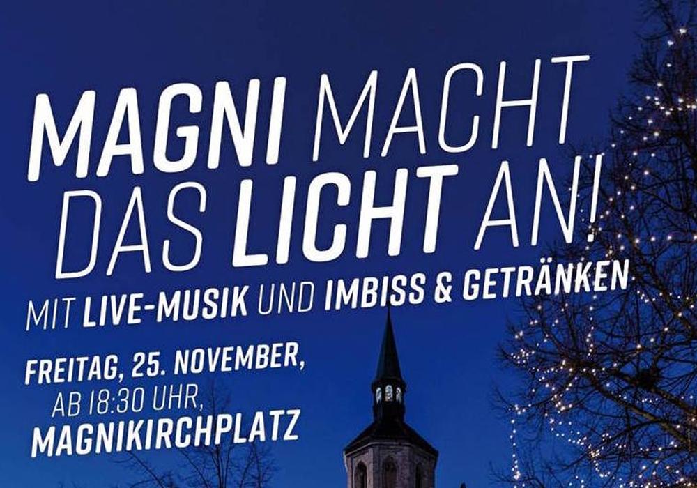 """Am 25.Novenber heißt es """"Magni macht das Licht an. Foto: Bürgerschaft Magniviertel e. V."""