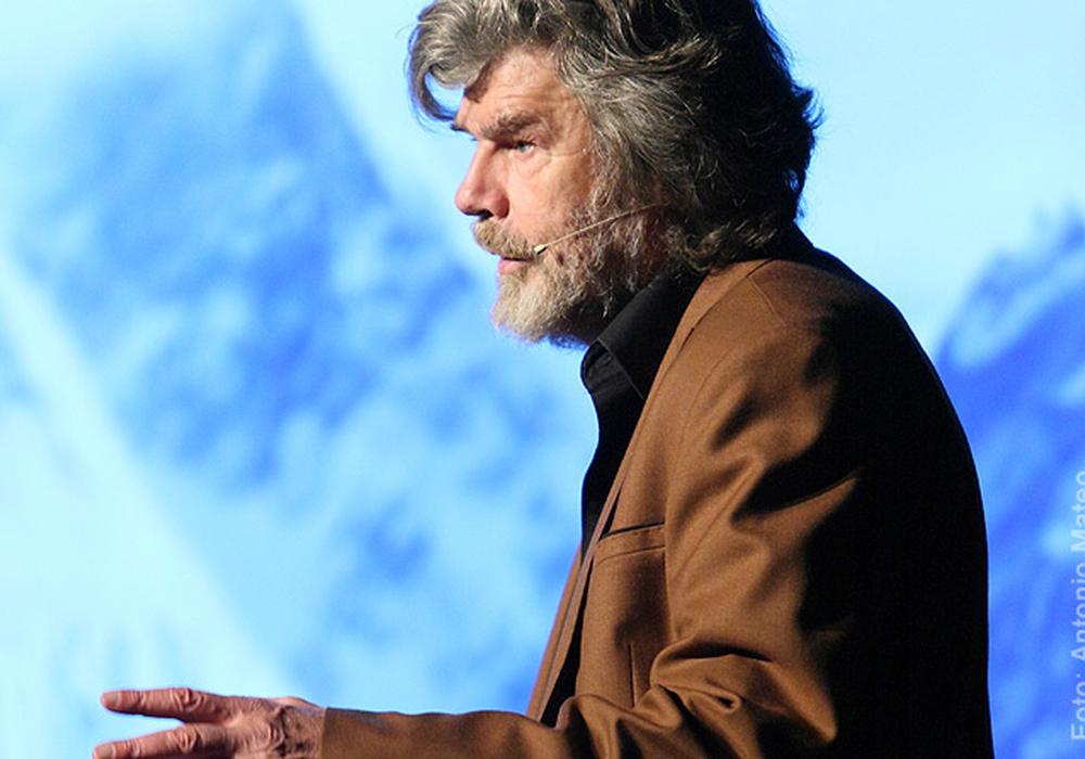 Reinhold Messner bei seinem Auftritt in Seesen, Foto: Antonio Mateo