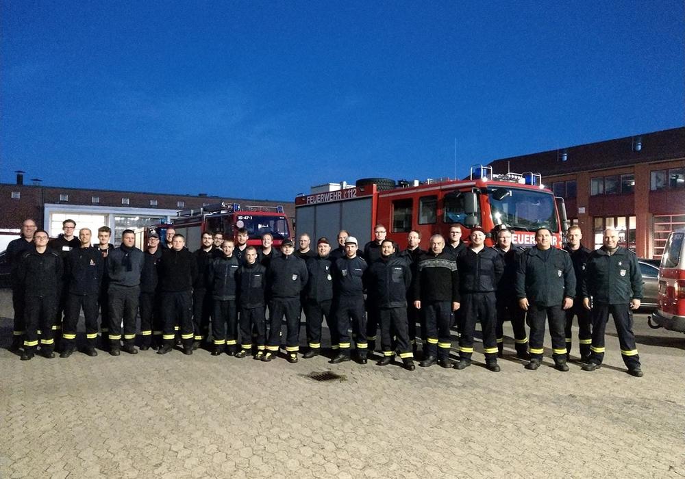 Auch die Wolfsburger Kameraden waren zur Unterstützung in Meppen. Foto: Stadt Wolfsburg
