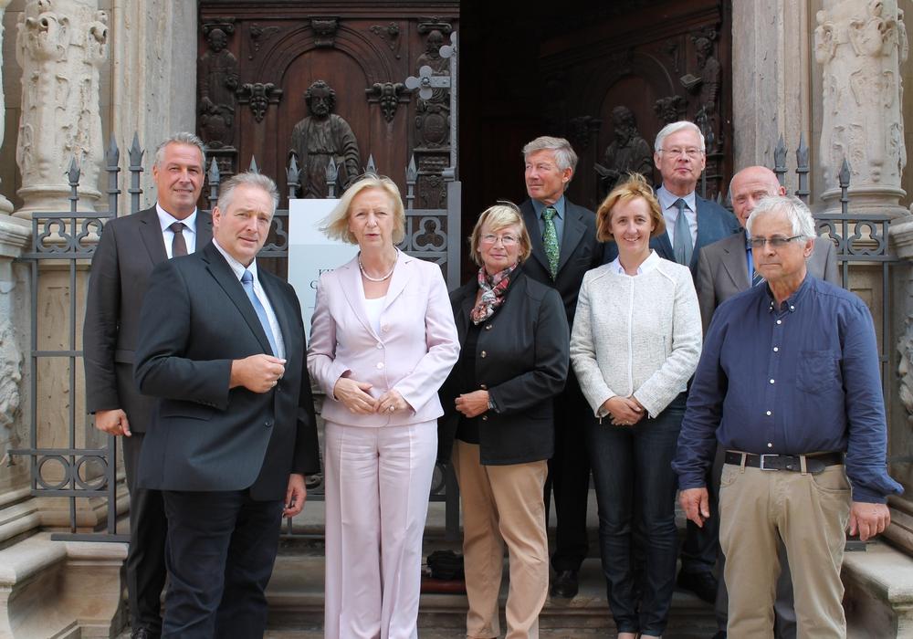 Bundesministerin für Bildung und Forschung Johanna Wanke zu Gast in der Fürstengruft in Wolfenbüttel. Foto: Privat