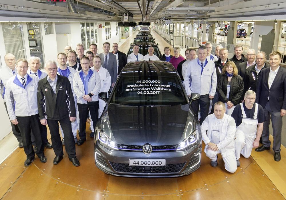 Der Jubiläumsgolf. Foto: Volkswagen