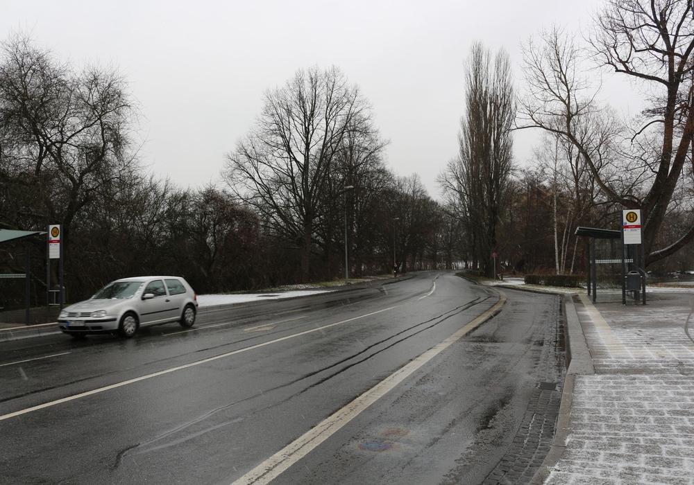 Der Messeweg steht vor der Sanierung. Viele Anwohner haben Angst, dass nach dem Umbau der Schwerlastverkehr kommt. Foto: Robert Braumann
