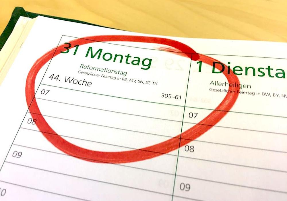 Hat auf Facebook den größten Zuspruch bekommen: Der 31. Oktober, Reformationstag. Symbolfoto: Anke Donner
