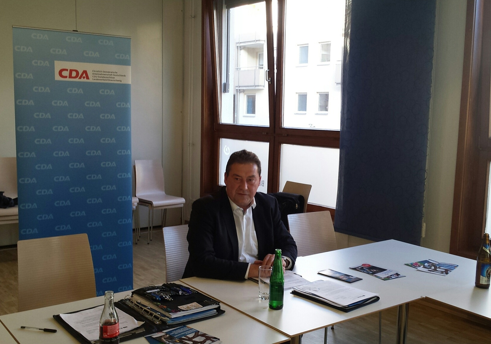 Uwe Lagosky bei der Diskussionsrunde. Foto: Privat