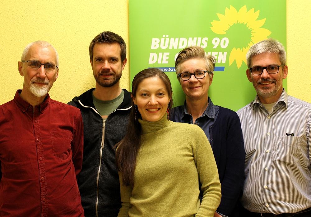Der Vorstand des Ortsvereins Wolfenbüttel von Bündnis 90 / Die Grünen: Manfred Kracht, Sascha Poser, Anna Fagan, Ulrike Krause, Stefan Brix (v. li.).