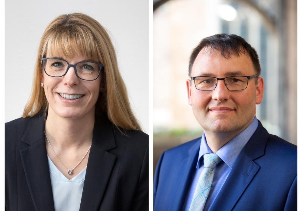 Christian Faßmann- Heins ist neuer Pflegedirektor, Ina Wegner seine Stellvertreterin. Foto: Klinikum Braunschweig