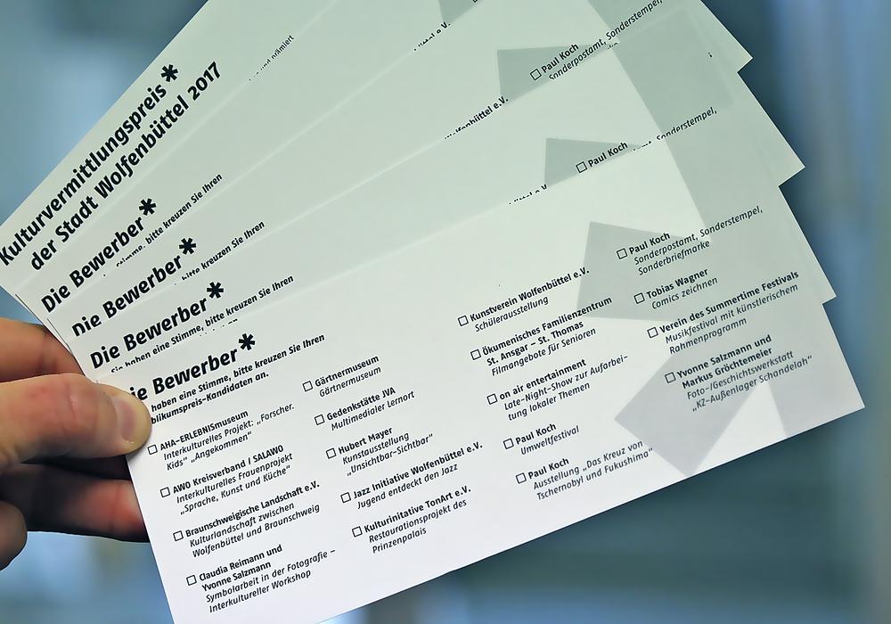 Die Abstimmungs-Postkarten. Foto: Stadt Wolfenbüttel