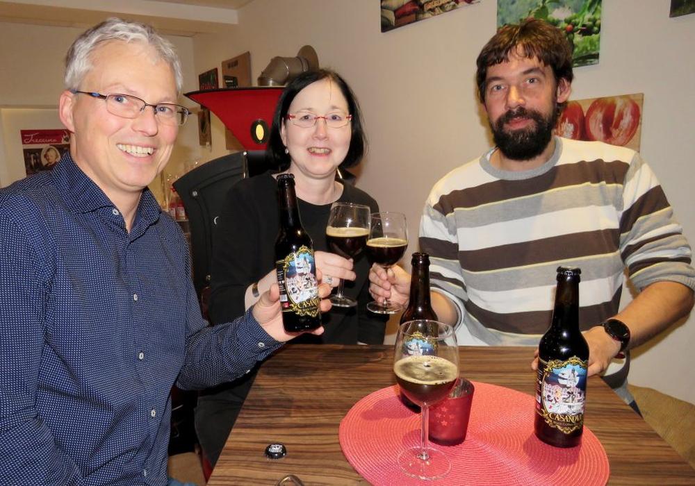 Monika und Andreas Steinig haben heute das erste Wolfenbütteler Kaffeebier vorgestellt. Foto: Andreas Molau