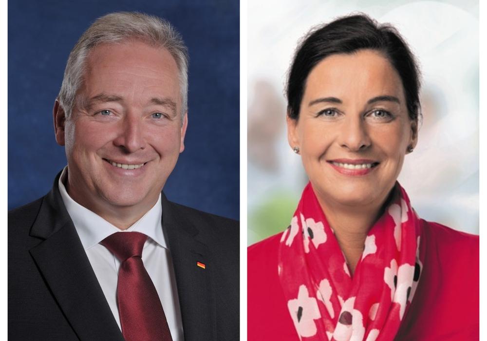 Frank Oesterhelweg, Vorsitzender des CDU-Landesverbandes Braunschweig und Veronika Koch, stellvertretende Vorsitzende des Landesverbandes. Foto: CDU