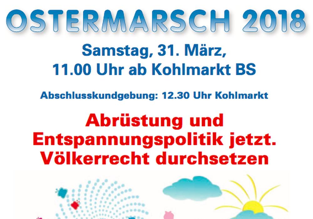 Am Ostersamstag findet der Ostermarsch in Braunschweig statt. Foto: Friedensbündnis