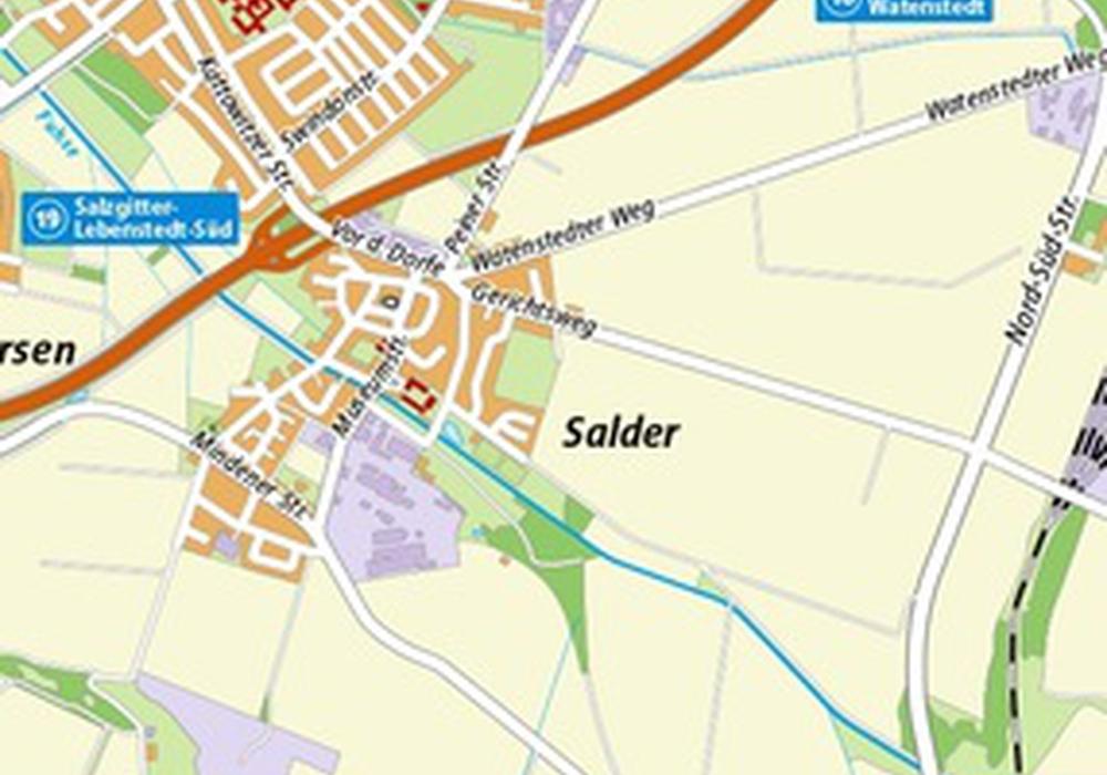 Die Machbarkeitsstudie soll die sechs Möglichkeiten zur Ortsumgehung auswerten. Grafik: Stadt Salzgitter