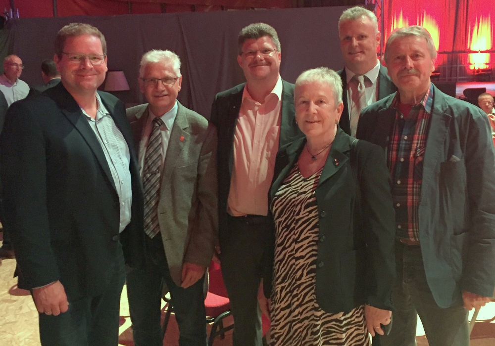 Marcus Bosse, MdL - Henry Bäsecke - Alexander Hoppe - Gisela Dittmar - Volker Meier - Friedrich-Wilhelm Diedrich (v. li.). Foto: Wahlkreisbüro Marcus Bosse
