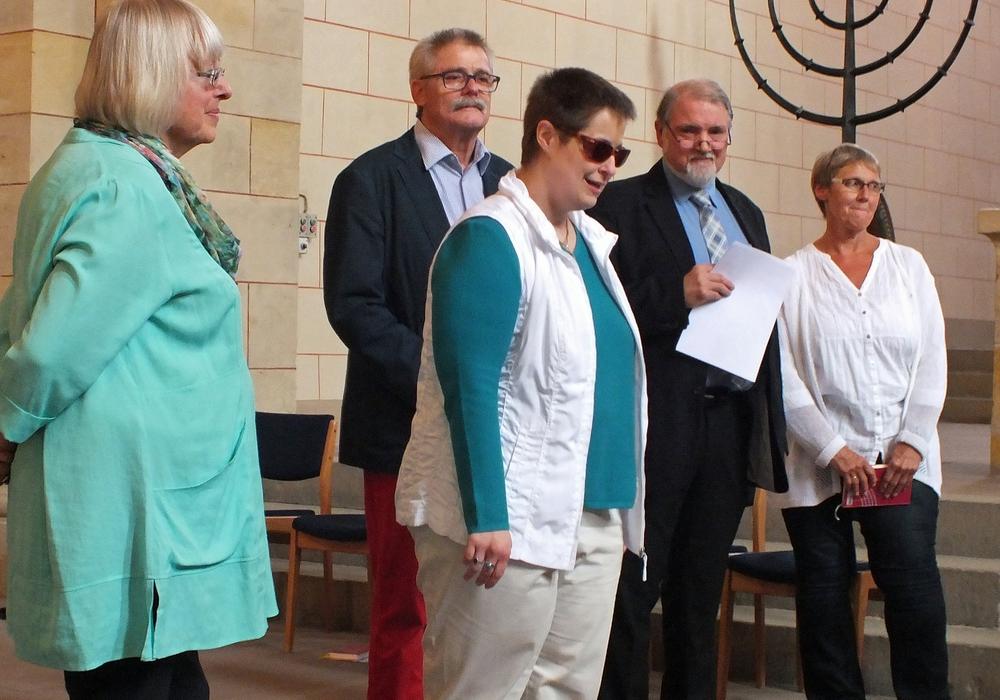 Das Gottesdienst-Team des dritten Sommergottesdienstes der Gemeinde Georg Calixt unter Leitung der Pastorin Britta Grund. Foto: Achim Klaffehn