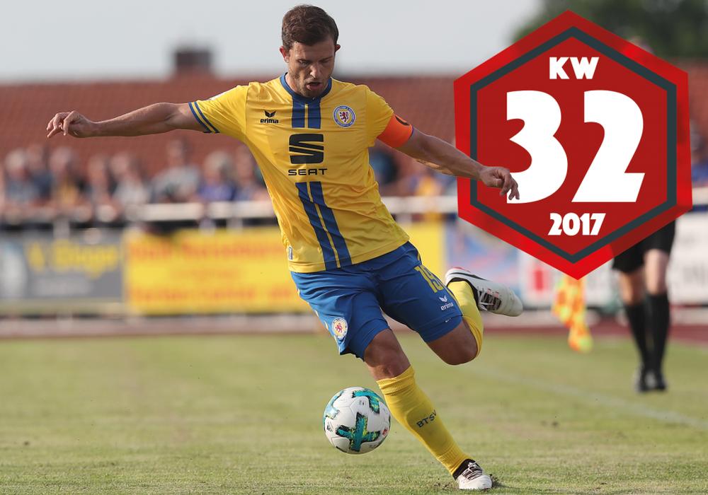 Kapitän Ken Reichel und Eintracht Braunschweig starten in Kiel in die Pokalsaison. Foto: Agentur Hübner