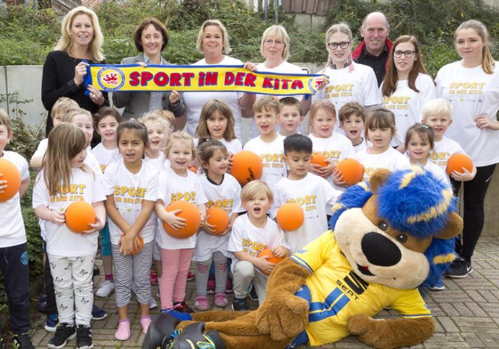 Sport in der Kita Foto: Eintracht Braunschweig Stiftung/Verena Meier