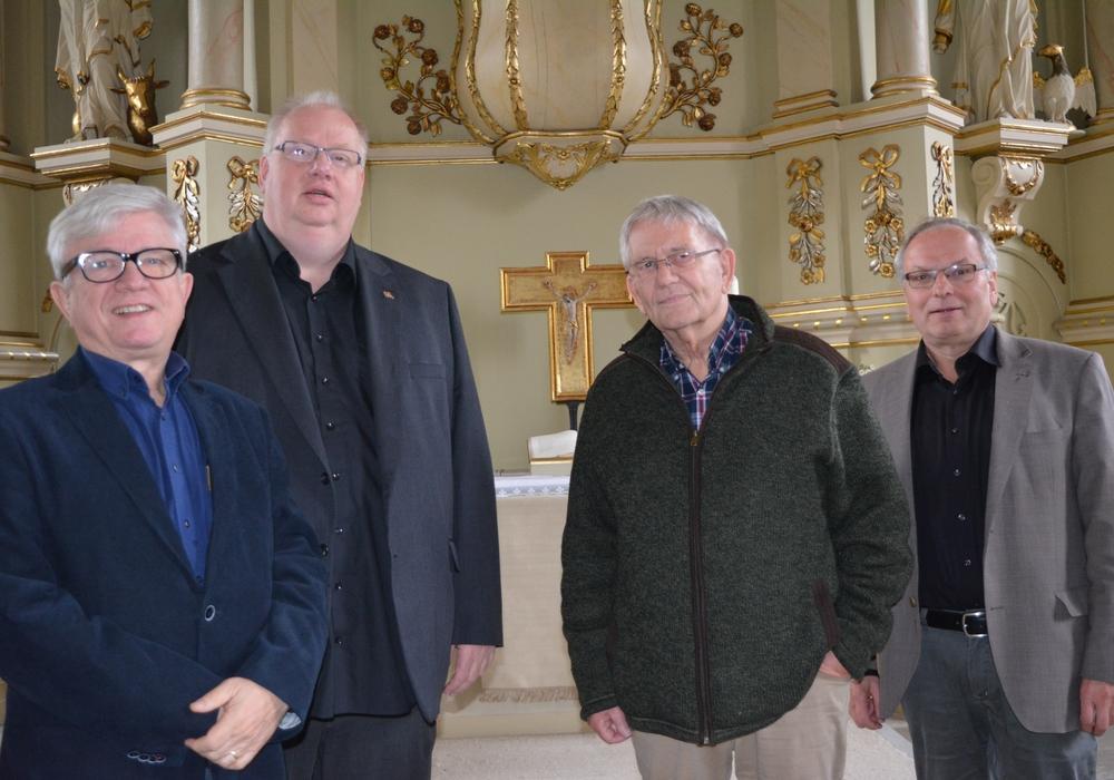 v.l. Werner Bähr, Thomas Mogge, Gerhard Hummer, Hans Schweda. Foto: Kirchenkreis Peine